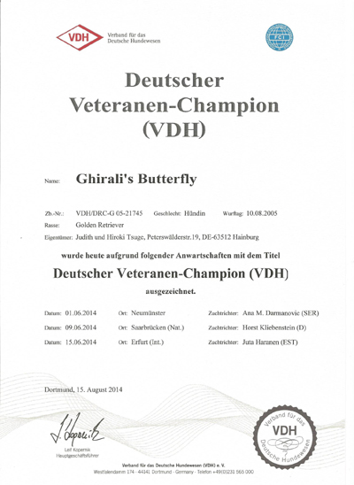 Veteranen-Champion Emily VDH